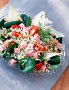 Salata od šunke i riže
