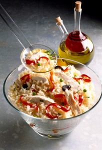 Salata od dimljene puretine s divljom rižom